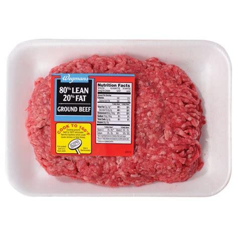protein 80 20 ground beef 80 lean ground beef wegmans