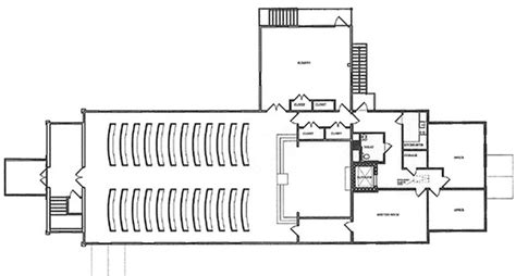 floor plan of a church floor plans congregational church