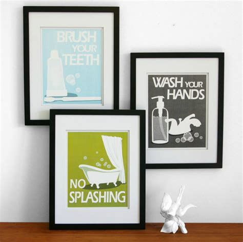 bathroom art printables warm modern decorating the budget decorator