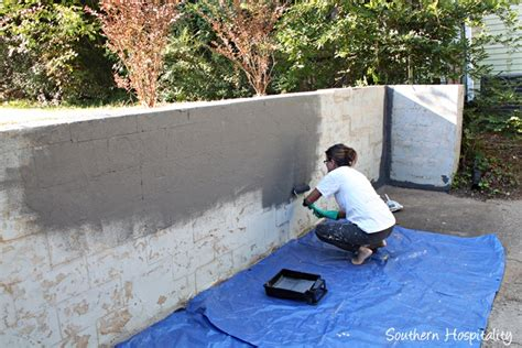 painting on concrete wall repair and paint a block wall southern hospitality