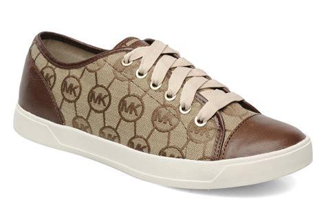 michael kors city sneakers michael michael kors mk city sneakers trainers in brown at