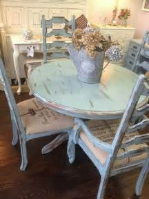 Blue Kitchen Table Set 26 Ways To Create A Shabby Chic Dining Room Or Area Shelterness