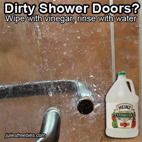 How To Clean Shower Doors With Vinegar 10 Amazing Uses For Vinegar Julie S Freebies