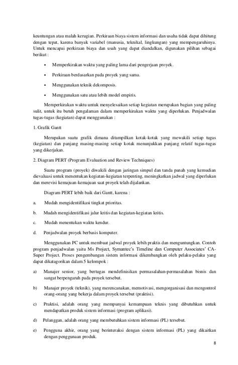 membuat makalah manajemen makalah manajemen proyek sistem informasi