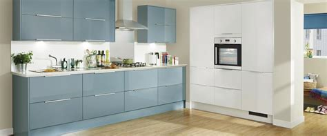 Blue Gloss Kitchen Cabinets by Howdens Kitchen Greenwich Gloss Blue