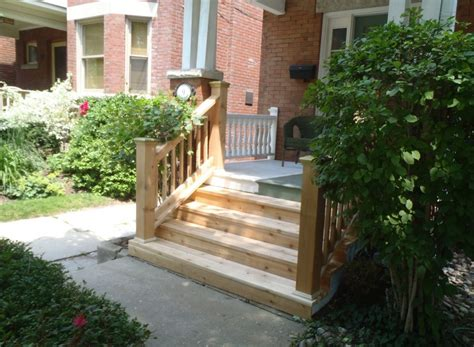 Outdoor Wood Stairs Wooden Porch Plans With Steps Studio Design Gallery