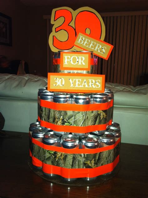 beer can cake 30th birthday beer can cake for him gifts for him