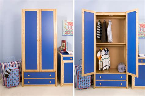 Childrens Blue Wardrobe by Combi Wardrobe Cbc