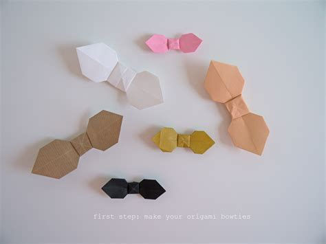 How To Make Origami Bow Tie - diy bow tie