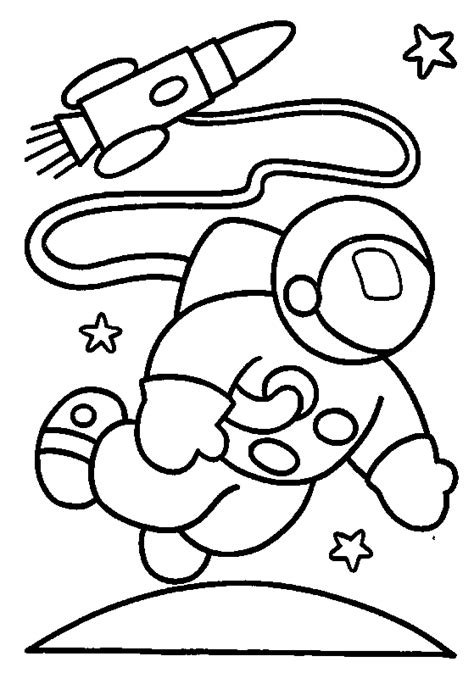 astronaut space suit coloring page pics about space
