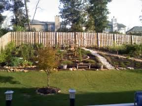 retaining wall in backyard pin steep backyard retaining wall on