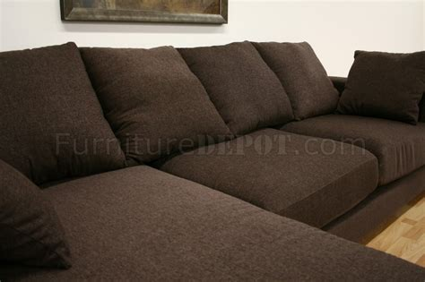 Brown Fabric Sectional Sofa Brown Twill Fabric Modern Sectional Sofa Florence