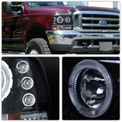 Ford Lights by Hid Xenon 99 04 Ford F250 F350 Superduty Halo Led