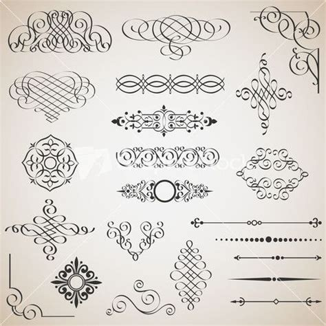 design elements in writing 15 best images about calligraphic design elements on