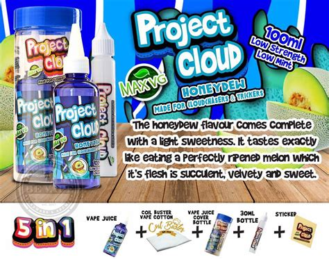 Premium Liquid Cloud Niners Honeydew project cloud honeydew liquid be vape de premium