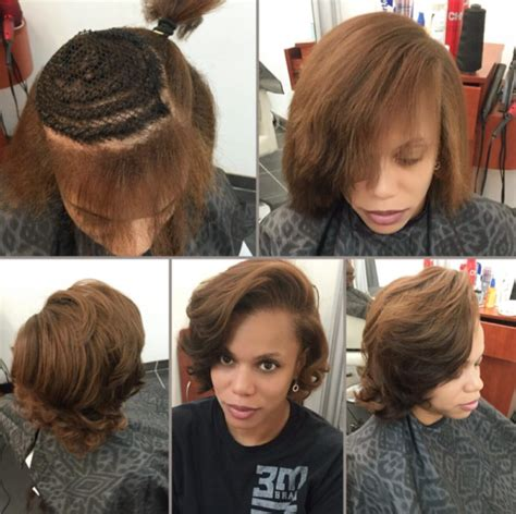 partial short weaves natural partial sew in by hairbylatise black hair