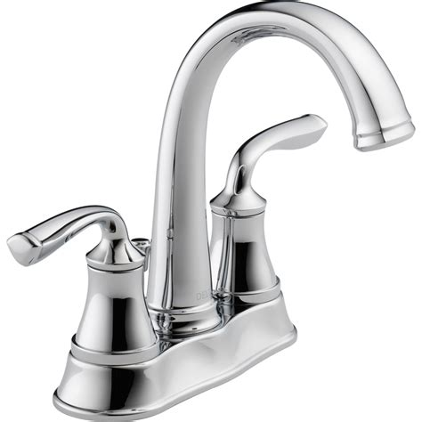 lowes bathtub faucets shop delta lorain chrome 2 handle 4 in centerset watersense bathroom sink faucet drain included