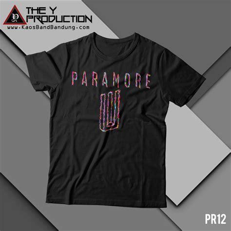 Kaos Band Paramore kaos paramore pr12 kaosbandbandung