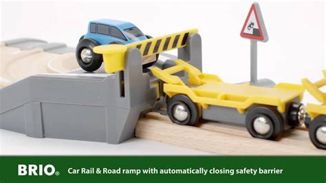 brio car transporter brio car transporter rail and road set 33212 english youtube