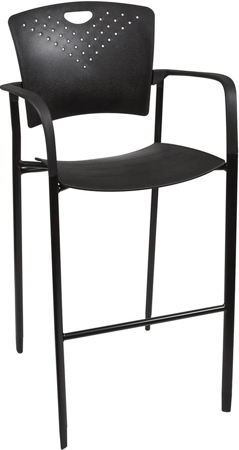 Stackable Bar Stools With Backs by Stackable Stool Chair Curved Back And Seat For Comfort