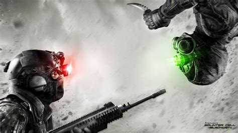 Two wallpapers from video game Splinter Cell:Blacklist