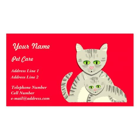 pet business card templates animal pet care business card templates bizcardstudio