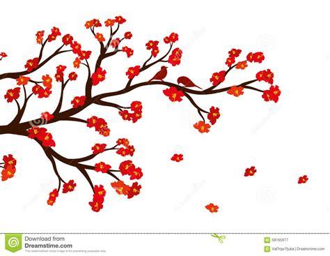 fiore con la z vector l illustrazione ramo di albero fiore con i