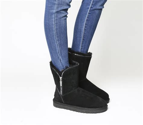 Zip Boots ugg florence zip boots black suede ankle boots
