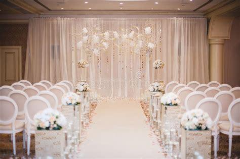 beautiful wedding ceremony design decoration elements