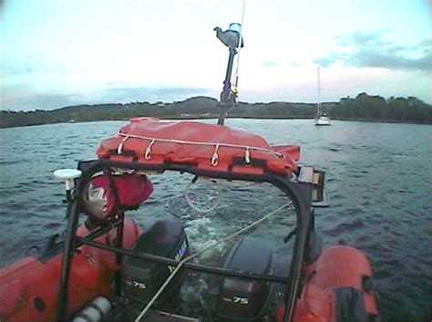 lough derg boat lough derg rnli assist two people on grounded 26ft yacht