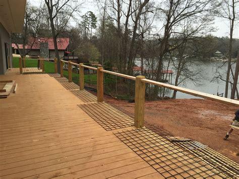 Hog Panel Deck Railing by Hog Wire Railing Lake Living Clt
