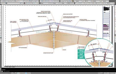 design portal frame exle complete single span hangar portal frame design details