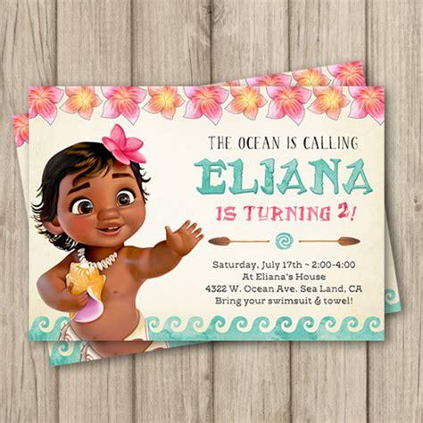 Invitation Card Moana moana birthday invitation baby moana invitation baby moana