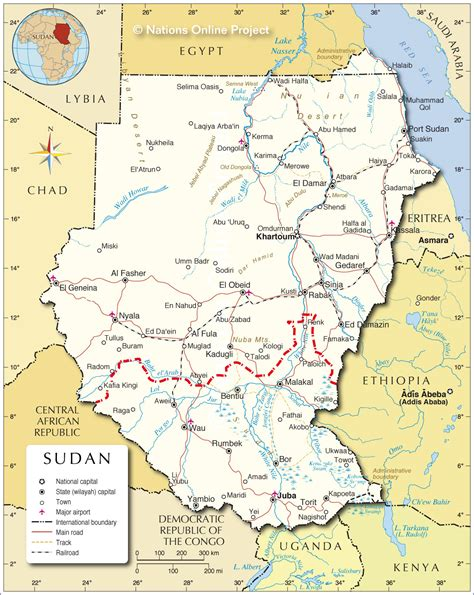 map of sudan political map of sudan nations project