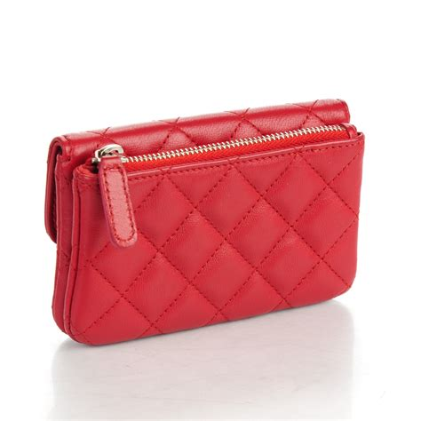 chanel lambskin quilted coin purse 158950