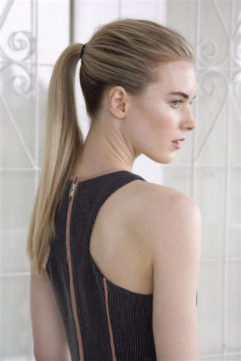 the new chic and sleek ponytail hairstyle how to a chic sleek ponytail in six steps vogue australia