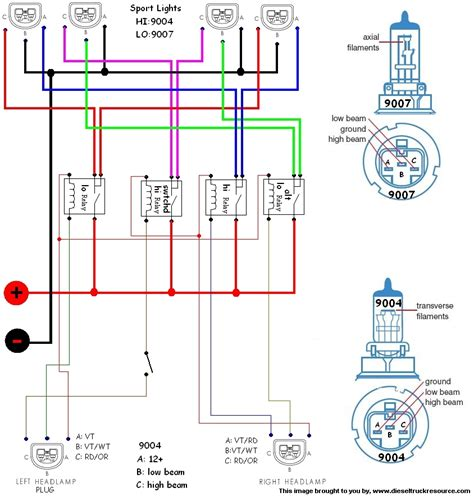 2004 dodge ram 2500 headlight wiring diagram wiring