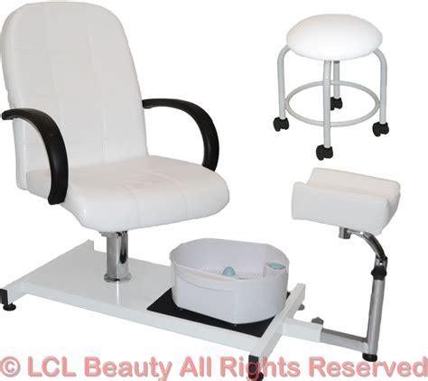 salon supplies white pedicure station hydraulic chair massage foot spa