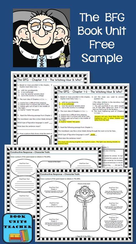 libro the unit free sle from the bfg book unit grades 3 6 libros y ideas