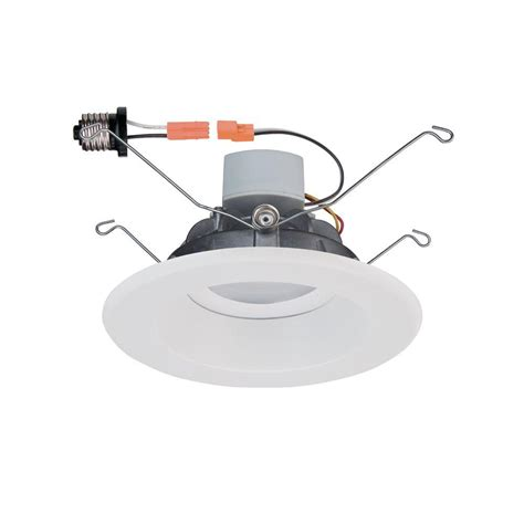 Commercial Electric Recessed Lighting by Commercial Electric 6 In White Recessed Led Trim