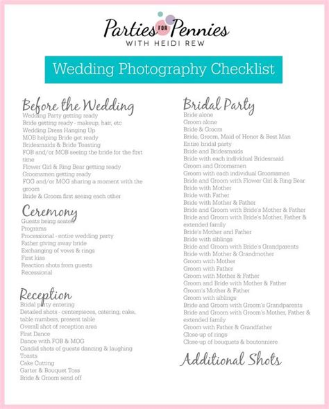 Wedding Checklist For Him by Best 25 Wedding Photography Checklist Ideas On