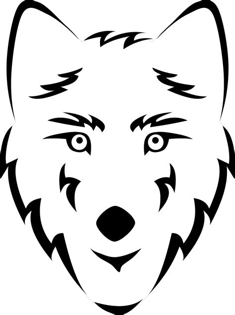 coloring page of a wolf s face fox face coloring pages