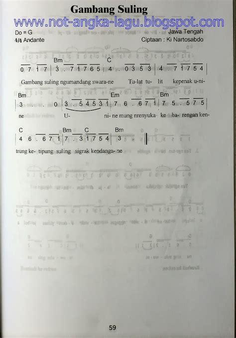 Seruling Pusaka 1 Jilid Tamat not angka lagu gambang suling kumpulan not angka lagu