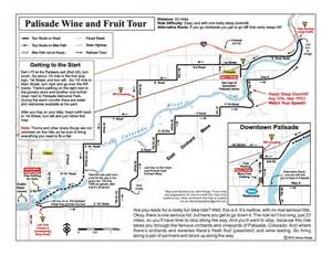 palisade colorado map palisade wine and fruit tour maplets