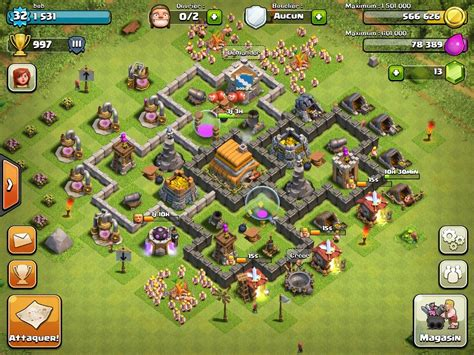 layout coc copy top 10 clash of clans town hall 6 trophy base layouts