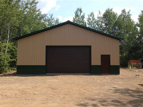 barns garages pole barn garage on whiteface reservoir knutson custom construction