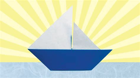 Origami Catamaran - origami sailboat folding
