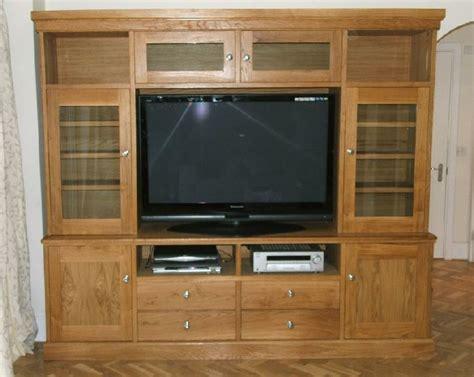 oak bookcase tv cabinet