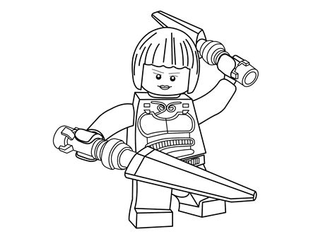 princesse nya coloring page for girls ninja go coloring