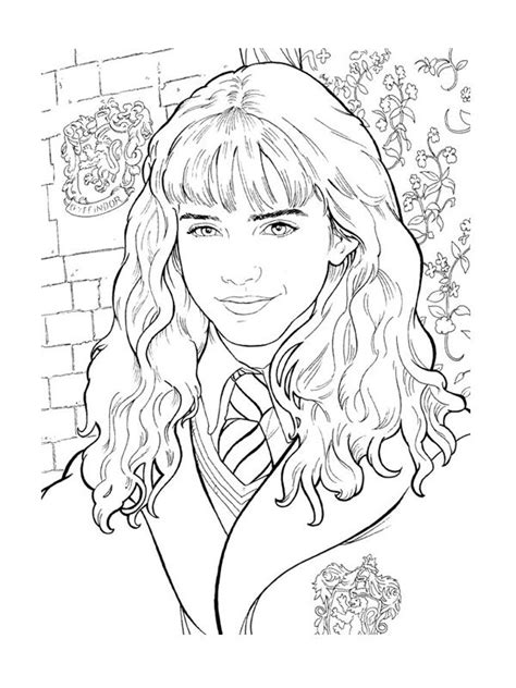 Hermione Granger Coloring Pages by 78 Best Coloriages Hp Images On Coloring Books